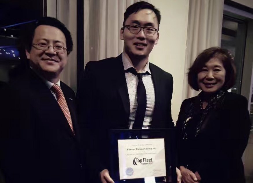 Perry Lo (Managing Director) and Gary Zheng (Trucking Supervisor) and Grace Wang (HR Trucking Association Canada)